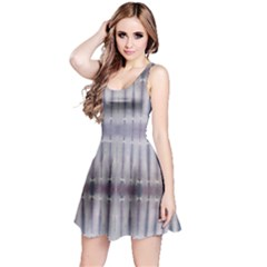 Beige Strips Tie Dye Sleeveless Dress