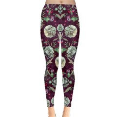 Paeonia2 Floral Leggings by CoolDesigns