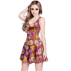 Wine Paisley Sleeveless Dress by CoolDesigns