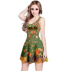 Green Squirrel Reversible Sleeveless Dress