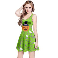 Green Pumpkin Reversible Sleeveless Dress by CoolDesigns
