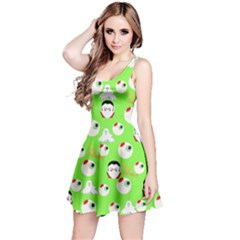Green Eye Balls Reversible Sleeveless Dress by CoolDesigns