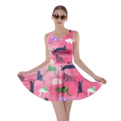 Cat Light Pink Skater Dress by CoolDesigns