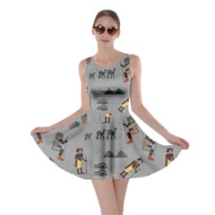 Egypt Cat Gray Skater Dress by CoolDesigns