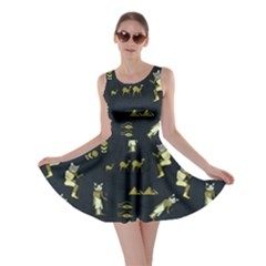 Egypt Cat Dark Skater Dress by CoolDesigns