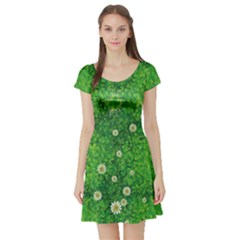 Shamrock Full Short Sleeve Skater Dress by CoolDesigns