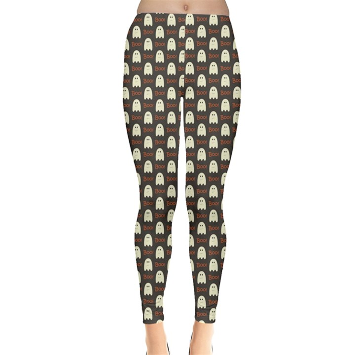 Black Halloween Pattern Layered Women s Leggings