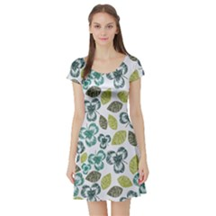 Shamrock Light Short Sleeve Skater Dress by CoolDesigns