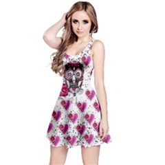 Skull Heart Reversible Sleeveless Dress by CoolDesigns