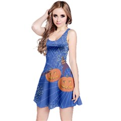 Blue Pumpkin 2 Reversible Sleeveless Dress by CoolDesigns