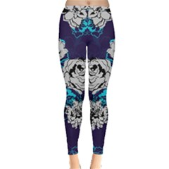Purple Navy Floral Leggings