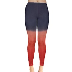 Navy Red Tie Dye Leggings by CoolDesigns