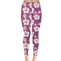 Hibiscus Floral Leggings  by CoolDesigns