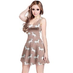 Mocha Unicorn Seamless Sleeveless Skater Dress  by CoolDesigns