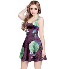 Wine Floral Sleeveless Dress by CoolDesigns