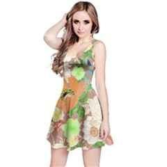 Mocha Floral Sleeveless Dress