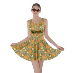 Green Chicken Flat Pattern Skater Dress