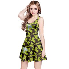 Neon Green Reversible Sleeveless Dress