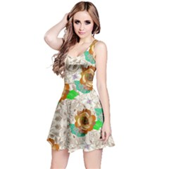 Beige Paisley Sleeveless Dress by CoolDesigns