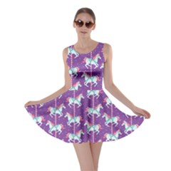 Purple Carousel Horses Pattern Skater Dress  by CoolDesigns