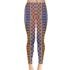 Colorful2 Aztec Tribal Chevron Stripes Leggings
