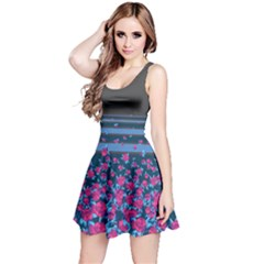 Bluestripespink Sleeveless Skater Dress by CoolDesigns