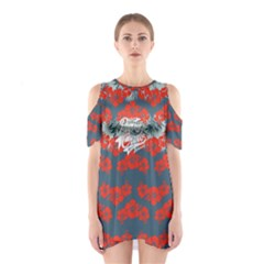 Red Hawaii 2 Cutout Shoulder One Piece