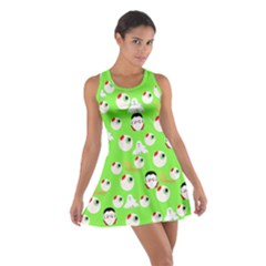 Green Eye Balls Cotton Racerback Dress by CoolDesigns