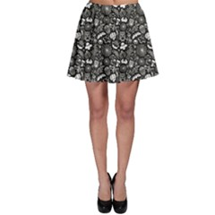 Dark Vintage Halloween Seamless Skater Skirt by CoolDesigns