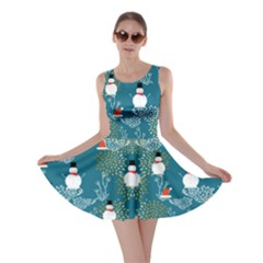 Dark Mint Snowman Skater Dress by CoolDesigns