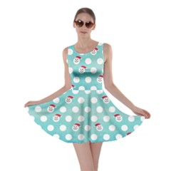 Snow Dot Blue Skater Dress by CoolDesigns