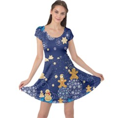 Navy Stars Cap Sleeve Dress