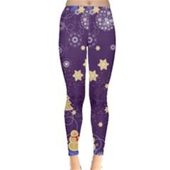 Purple Xmas Leggings