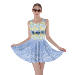 Light Blue Hawaii Skater Dress by CoolDesigns