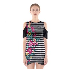 Pink Hawaii Stripe Cutout Shoulder One Piece by CoolDesigns