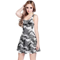 Gray 1 Camouflage Pattern Reversible Sleeveless Dress by CoolDesigns