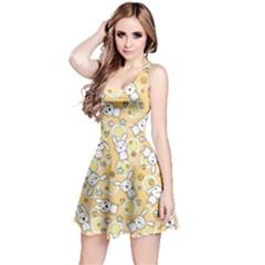 Yellow Pattern Doddle Kawaii Sleeveless Skater Dress