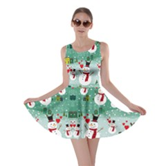Snowman Green Skater Dress by CoolDesigns