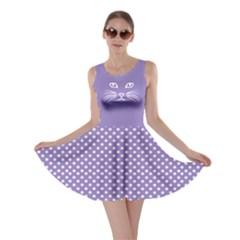 Violet Cat Dot Skater Dress by CoolDesigns