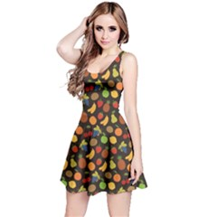 Colorful Pattern Set Of Fruit Sleeveless Dress by CoolDesigns