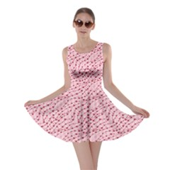 Pink Cute Pink Valentine Day Pattern Cute Hearts Skater Dress