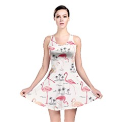 Colorful Flamingo Bird Pattern Reversible Skater Dress by CoolDesigns