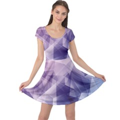 Blue Iridescent Blue Purple And Pink Pattern Cap Sleeve Dress by CoolDesigns