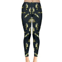 Egypt Cat Dark Leggings  by CoolDesigns