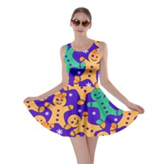 Purple Ginger Man Skater Dress by CoolDesigns