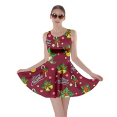 Wine Merry Skater Dress by CoolDesigns