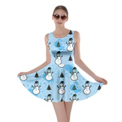 Light Blue Snowman Skater Dress by CoolDesigns