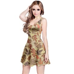 Leaves Colorful Reversible Sleeveless Dress by CoolDesigns