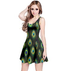 Green Feather Sleeveless Dress by CoolDesigns