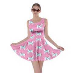 Pink Carousel Horses Pattern Skater Dress  by CoolDesigns